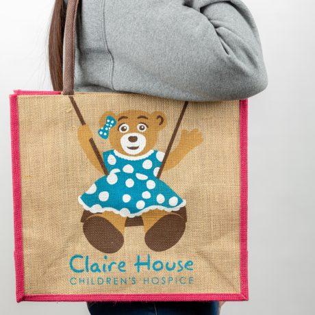 Large Pink Canvas Shopping Bag